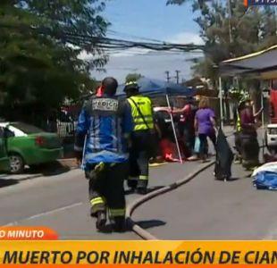 Activan protocolo por emergencia química en La Cisterna: una persona murió tras beber cianuro