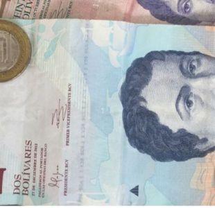 El billete de 2 bolívares ya no tiene valor, por lo que es frecuente verlos en el suelo, al igual que las monedas de 1 bolívar.