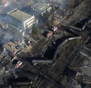 Tanques de gas explotan en tren de carga en Bulgaria