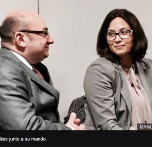 Manuela Magalhães junto a su marido.