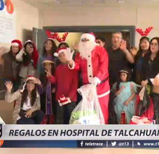 [VIDEO] Viejito Pascuero adelanta entrega de regalos en Hospital de Talcahuano