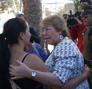 Bachelet tras visita a Valparaíso: Personas en lugares de riesgo deben trasladarse