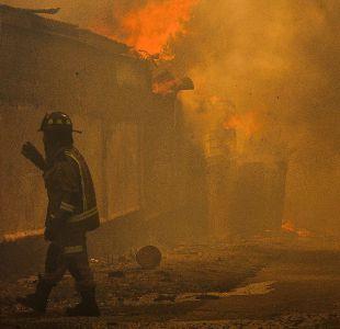 Incendio en Valparaíso: fiscal no descarta intencionalidad