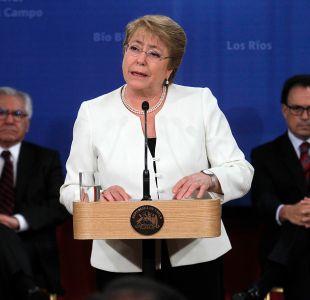 Adimark: Aprobación a Bachelet llega al 26% y Mandataria registra su peor promedio anual de respaldo