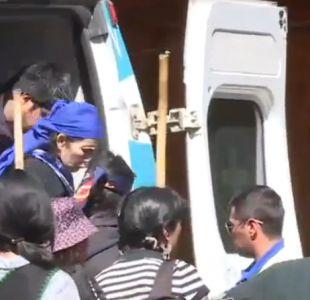 Machi Francisca Linconao llega a su casa para cumplir arresto domiciliario