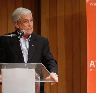 """Piñera: eventual nuevo gobierno de la Nueva Mayoría sería """"un verdadero porrazo de estancamiento"""""""