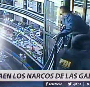 [VIDEO] Detienen a banda de narcos que traficaban en galerías de Santiago centro