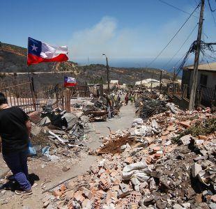 Incendio en Valparaíso: Catastro definitivo se entregará el martes 10 de enero