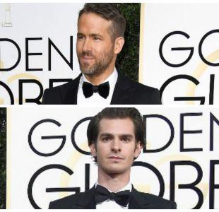 Ryan Reynolds y Andrew Garfield se dieron un beso en los Globos de Oro 2017