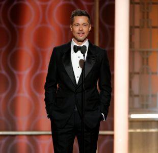 Brad Pitt reapareció este domingo en los Globos de Oro