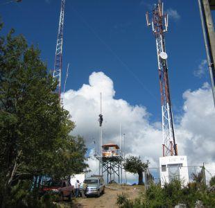 Desploman antena en Collipulli y piden libertad de la Machi Linconao