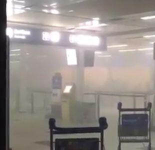 Evacuan aeropuerto de Buenos Aires por incendio en el hall
