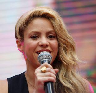 Shakira en su reciente visita a Chile