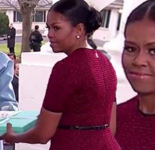 Melania Trump entrega incómodo obsequio a Michelle Obama