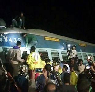 Al menos 23 muertos y 100 heridos en India por descarrilamiento de un tren
