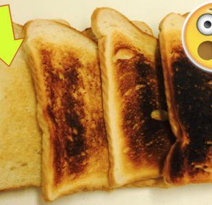¿Cómo te gustan las tostadas? Cuanto más oscuras, más acrilamida tienen.
