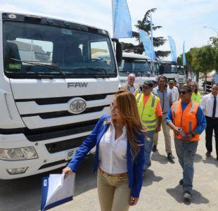 Incendios forestales: Cathy Barriga anuncia donación diaria de agua para avión SuperTanker
