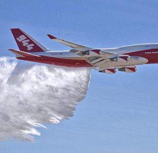 SuperTanker volverá al país si evolución de incendios forestales lo amerita