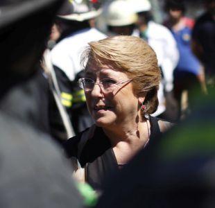 Cadem: tres de cada cuatro personas rechazan gestión de Bachelet en emergencia por incendios