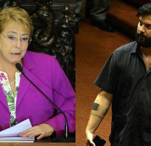 Incendios: Bachelet agradece a Boric por defender la importancia de la unidad
