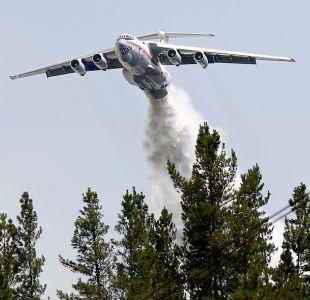 Ilyushin 76 se activa para combatir incendio en Quilpué