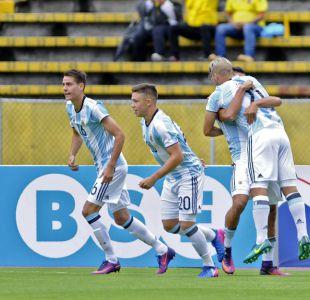 Argentina se recupera y vence agónicamente a Colombia en el Sudamericano Sub 20