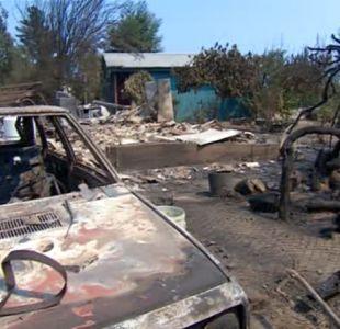 [VIDEO] Navidad: fuego ha consumido 17 casas y 10% de la comuna