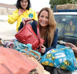 Cathy Barriga envió caravana con ayuda para damnificados por incendios
