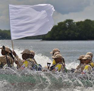 FARC desembarca en principal puerto de Colombia en ruta a su desarme