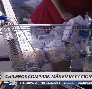 [VIDEO] Febrero: El mes del año donde más gastan los chilenos en supermercados