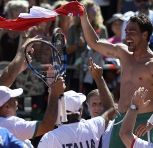 Italia avanza en Copa Davis tras dejar en el camino al vigente campeón Argentina