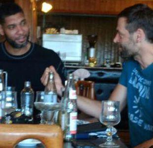 [FOTOS] Ex estrellas de la NBA Tim Duncan y Fabricio Oberto visitan Ancud
