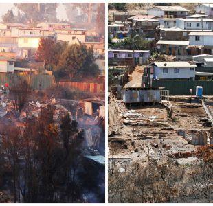 [FOTOS] El antes y después de Puertas Negras a un mes del incendio