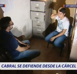 [VIDEO] Luciano Cabral se defiende desde la cárcel en exclusiva con Deportes 13: Soy inocente