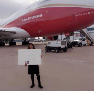 """Lucy Avilés ante críticas por donación de SuperTanker: """"Mi país se estaba quemando y quise ayudar"""""""