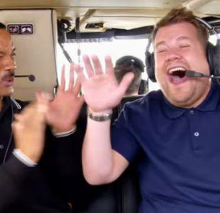 """James Corden y Will Smith en la serie de """"Carpool karaoke"""""""