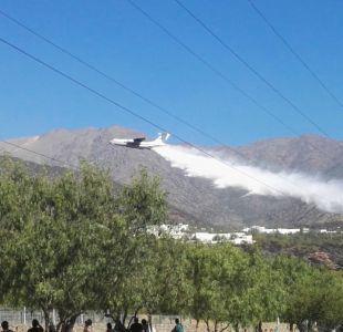 Controlan incendio forestal en Peñalolén tras intervención de avión ruso Ilyushin Il-76