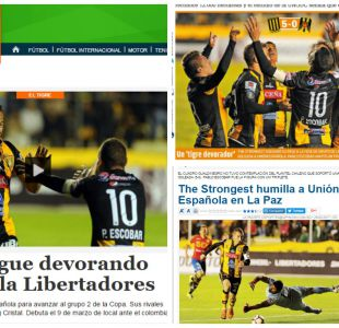 [FOTOS] Prensa de Bolivia destaca que The Strongest se devoró a Unión Española