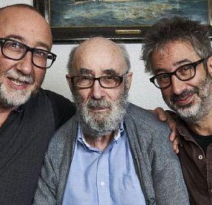 Ivor y David Baddiel junto a su padre, Colin, que tiene la enfermedad de Pick.