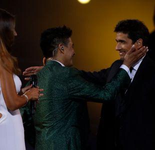 Américo y su abrazo con Rafael Araneda en Viña 2017