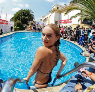 [FOTOS] El piscinazo de Kika Silva despide el Festival de Viña