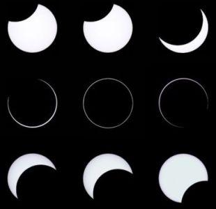 Este domingo se produjo un eclipse anular que fue parcialmente visible en zonas de Argentina y Chile.