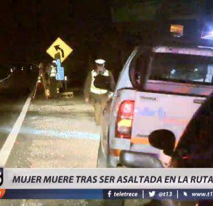 [VIDEO] Mujer muere atropellada tras ser asaltada en la Ruta 68