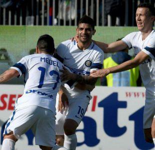 Inter de Gary Medel golea como visita al Cagliari de Mauricio Isla en la Serie A
