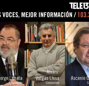 Jorge Lanata, Álvaro Vargas Llosa y Ascanio Cavallo se suman como columnistas de Tele13 Radio