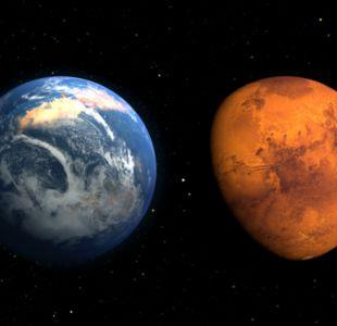 Marte en el pasado y ahora, según una ilustración de la NASA. El planeta rojo tuvo en el pasado una atmósfera y océanos.
