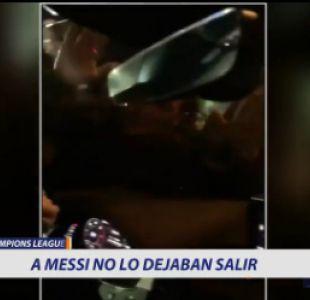 [VIDEO] A Messi no lo dejaban salir del estadio tras contundente triunfo del Barcelona