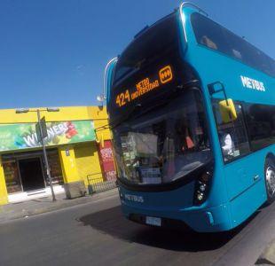 [VIDEO] Así fue el primer día de prueba del bus de dos pisos del Transantiago