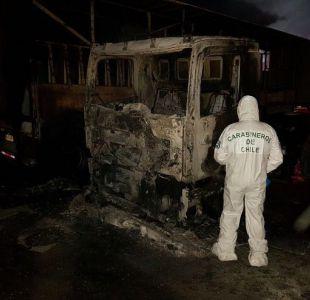 Atentado deja 17 camiones quemados en Temuco