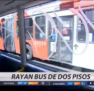 Rayan por segunda vez bus Transantiago de dos pisos
